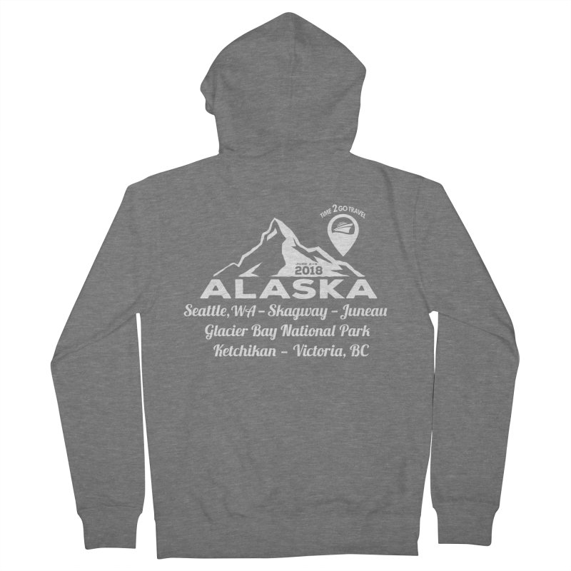 Time 2 Go Alaska white Men's French Terry Zip-Up Hoody by Don Vagabond's Artist Shop