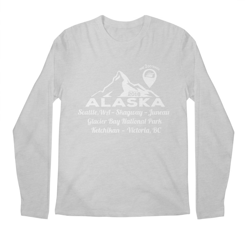 Time 2 Go Alaska white Men's Regular Longsleeve T-Shirt by Don Vagabond's Artist Shop