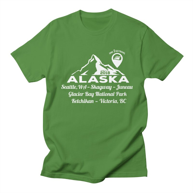 Time 2 Go Alaska white Women's Regular Unisex T-Shirt by Don Vagabond's Artist Shop