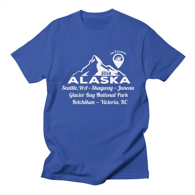 Time 2 Go Alaska white Men's Regular T-Shirt by Don Vagabond's Artist Shop