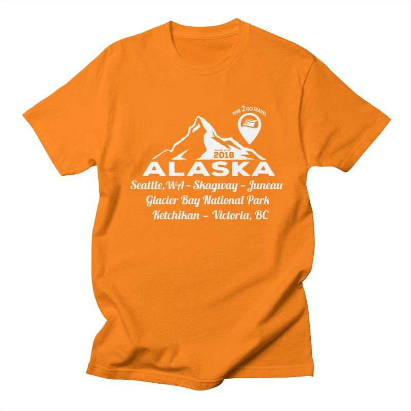 Time 2 Go Alaska white Men's T-Shirt by donvagabond's Artist Shop