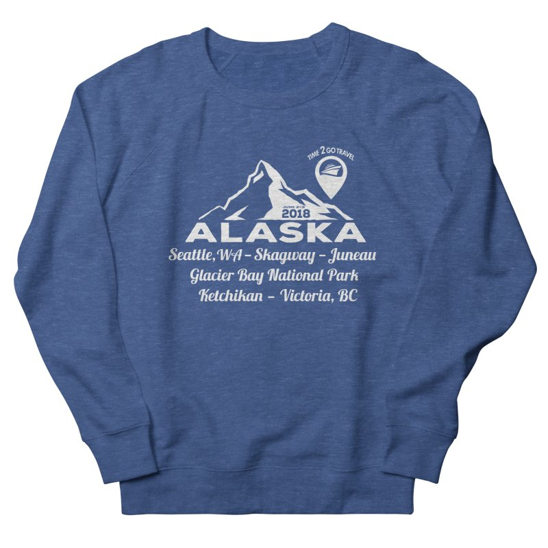 Time 2 Go Alaska white Men's French Terry Sweatshirt by Don Vagabond's Artist Shop