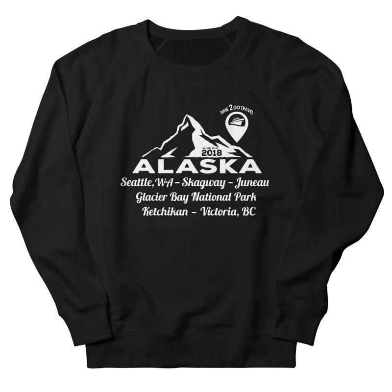 Time 2 Go Alaska white Men's French Terry Sweatshirt by Don Vagabond's Artist Shop