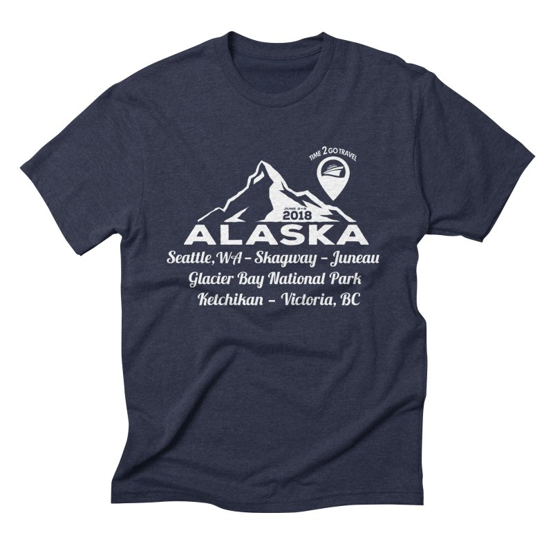 Time 2 Go Alaska white Men's Triblend T-Shirt by Don Vagabond's Artist Shop