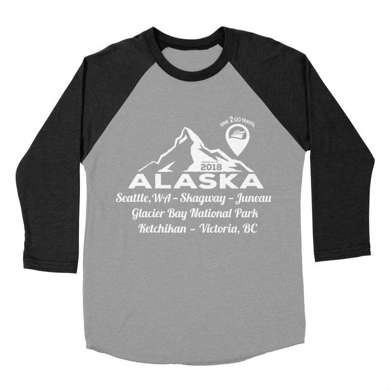 Time 2 Go Alaska white Men's Baseball Triblend T-Shirt by donvagabond's Artist Shop