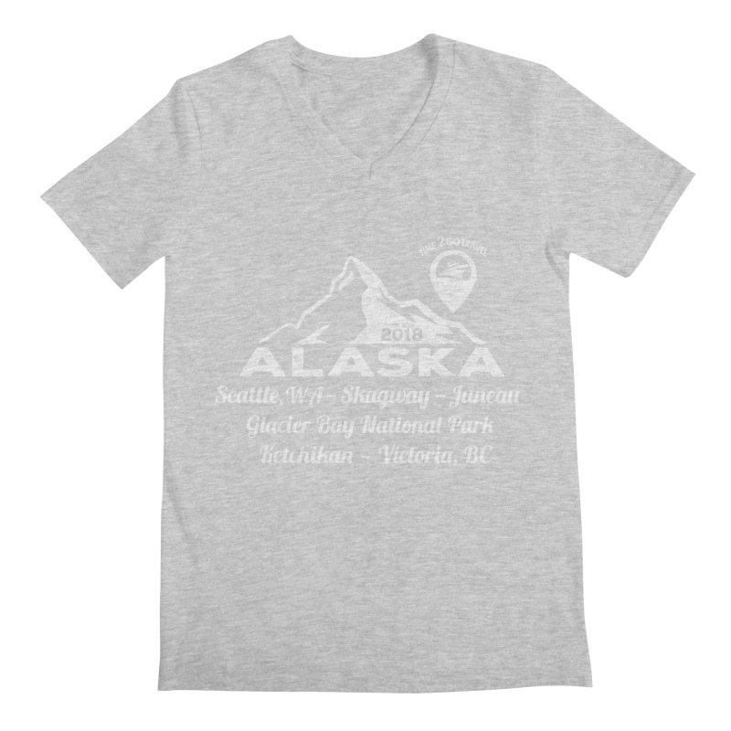 Time 2 Go Alaska white Men's Regular V-Neck by Don Vagabond's Artist Shop
