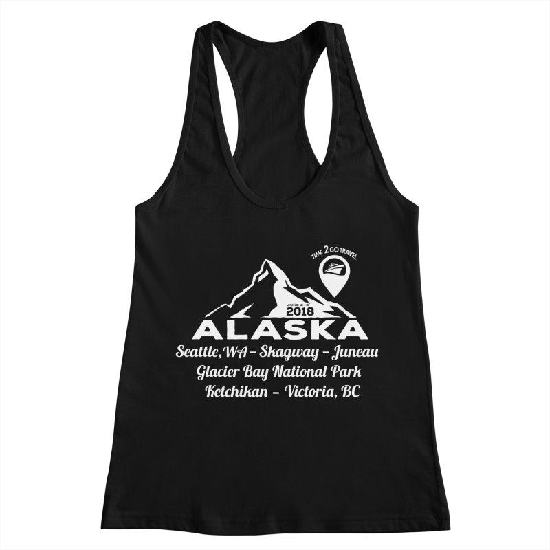 Time 2 Go Alaska white Women's Racerback Tank by Don Vagabond's Artist Shop