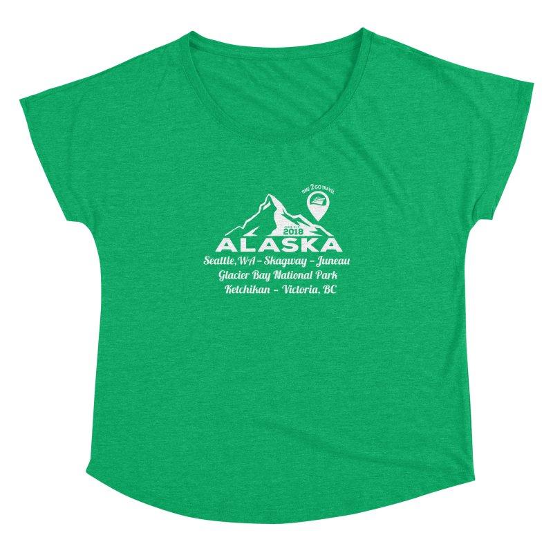 Time 2 Go Alaska white Women's Dolman Scoop Neck by Don Vagabond's Artist Shop