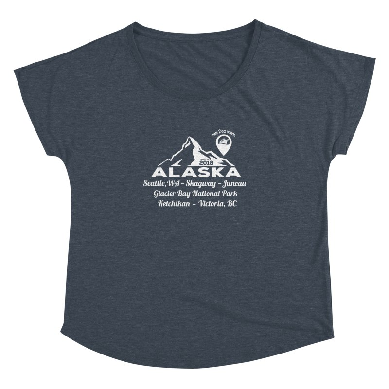 Time 2 Go Alaska white Women's Dolman by donvagabond's Artist Shop