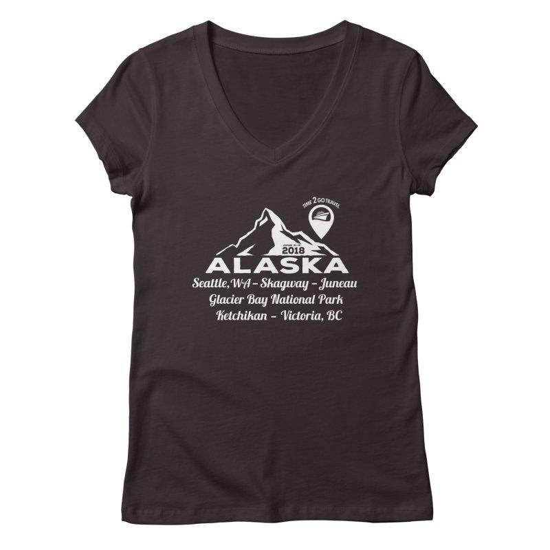 Time 2 Go Alaska white Women's Regular V-Neck by Don Vagabond's Artist Shop