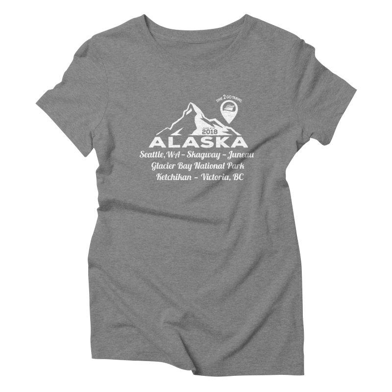 Time 2 Go Alaska white Women's Triblend T-Shirt by donvagabond's Artist Shop