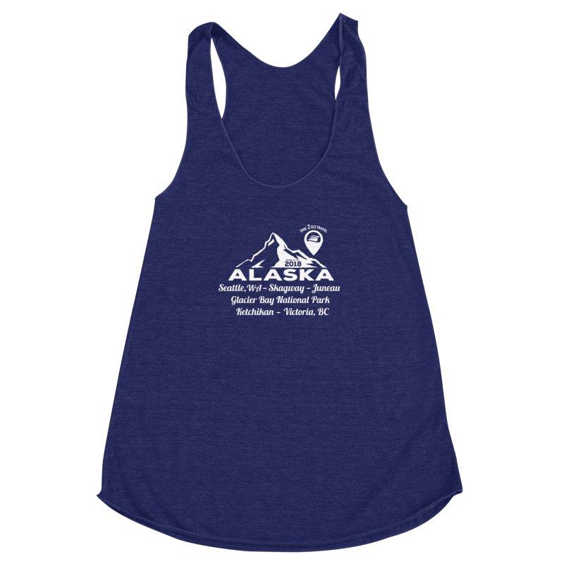 Time 2 Go Alaska white Women's Racerback Triblend Tank by Don Vagabond's Artist Shop