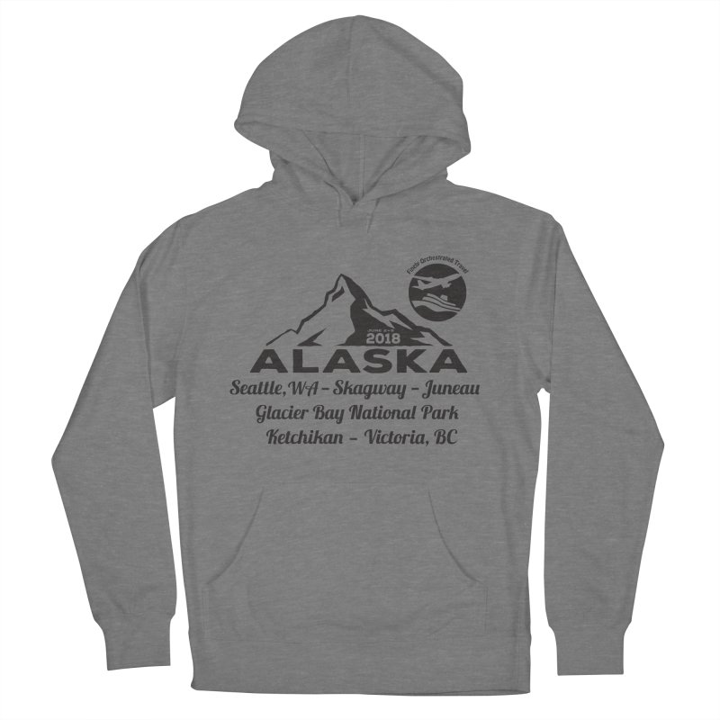 Finely Orchestrated Alaska Black Men's French Terry Pullover Hoody by Don Vagabond's Artist Shop
