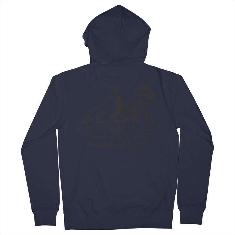 Finely Orchestrated Alaska Black Women's French Terry Zip-Up Hoody by Don Vagabond's Artist Shop