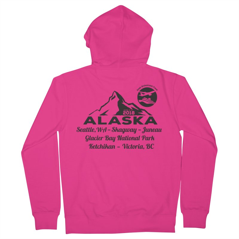 Finely Orchestrated Alaska Black Men's French Terry Zip-Up Hoody by Don Vagabond's Artist Shop