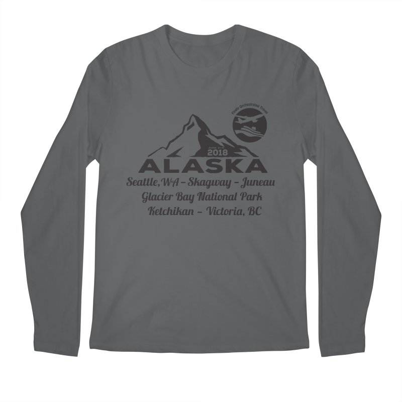 Finely Orchestrated Alaska Black Men's Regular Longsleeve T-Shirt by Don Vagabond's Artist Shop