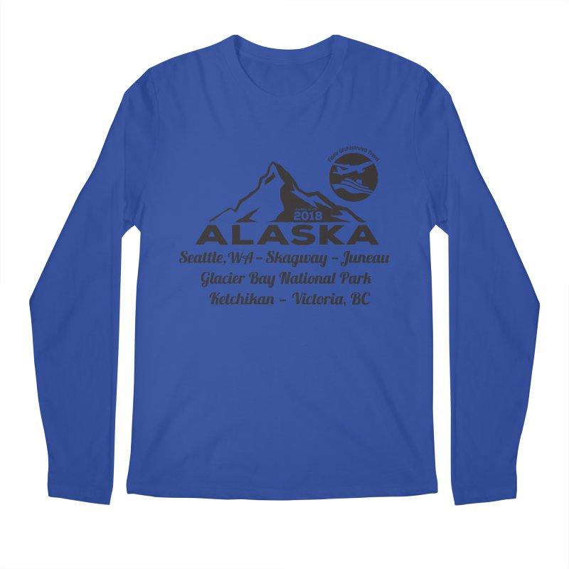 Finely Orchestrated Alaska Black Men's Regular Longsleeve T-Shirt by Don Vagabond's Artist Shop