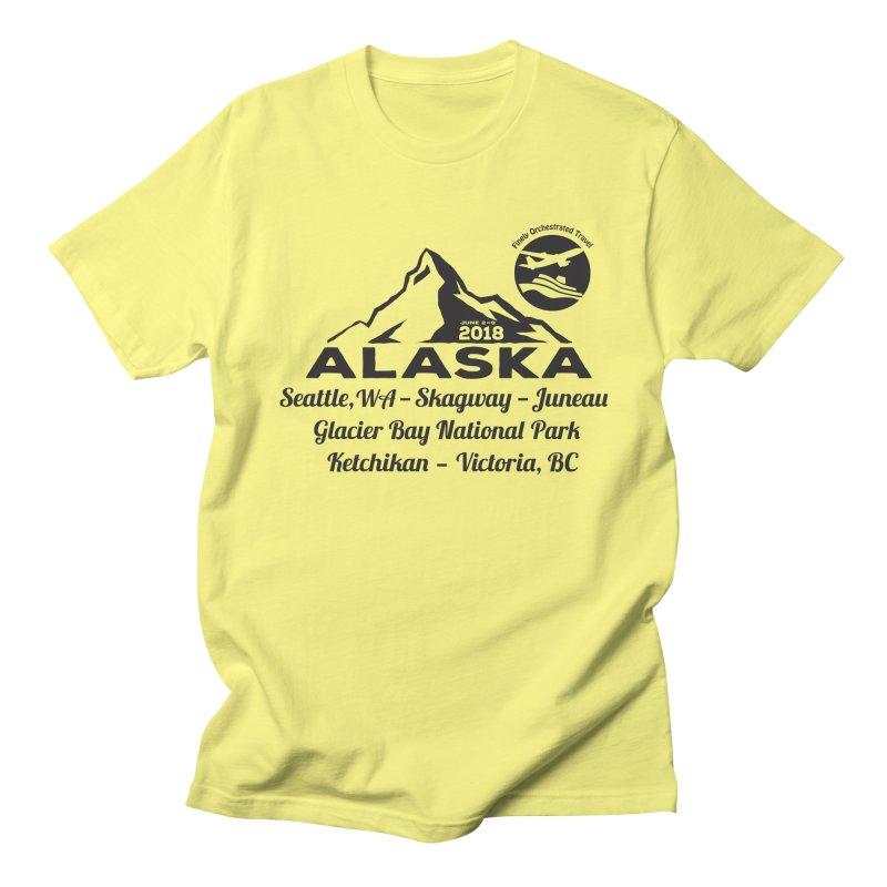 Finely Orchestrated Alaska Black Men's T-Shirt by donvagabond's Artist Shop