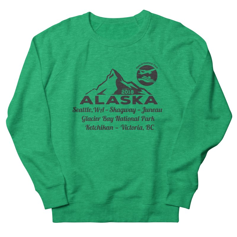 Finely Orchestrated Alaska Black Women's French Terry Sweatshirt by Don Vagabond's Artist Shop