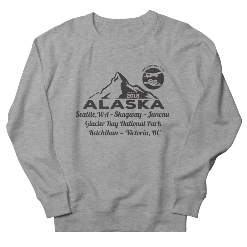 Finely Orchestrated Alaska Black Men's French Terry Sweatshirt by Don Vagabond's Artist Shop