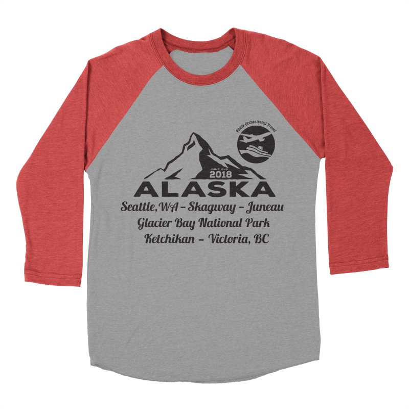 Finely Orchestrated Alaska Black Men's Baseball Triblend Longsleeve T-Shirt by Don Vagabond's Artist Shop