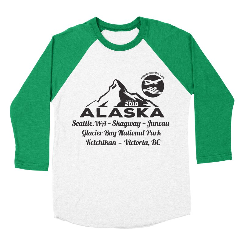 Finely Orchestrated Alaska Black Men's Baseball Triblend T-Shirt by donvagabond's Artist Shop