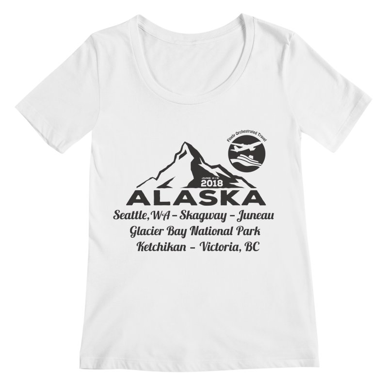 Finely Orchestrated Alaska Black Women's Regular Scoop Neck by Don Vagabond's Artist Shop