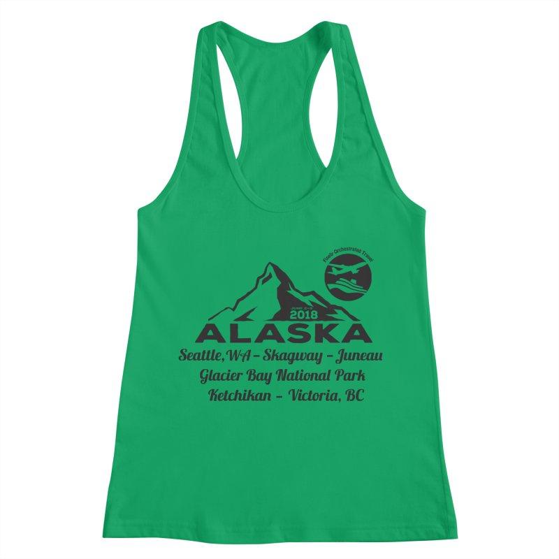 Finely Orchestrated Alaska Black Women's Racerback Tank by Don Vagabond's Artist Shop