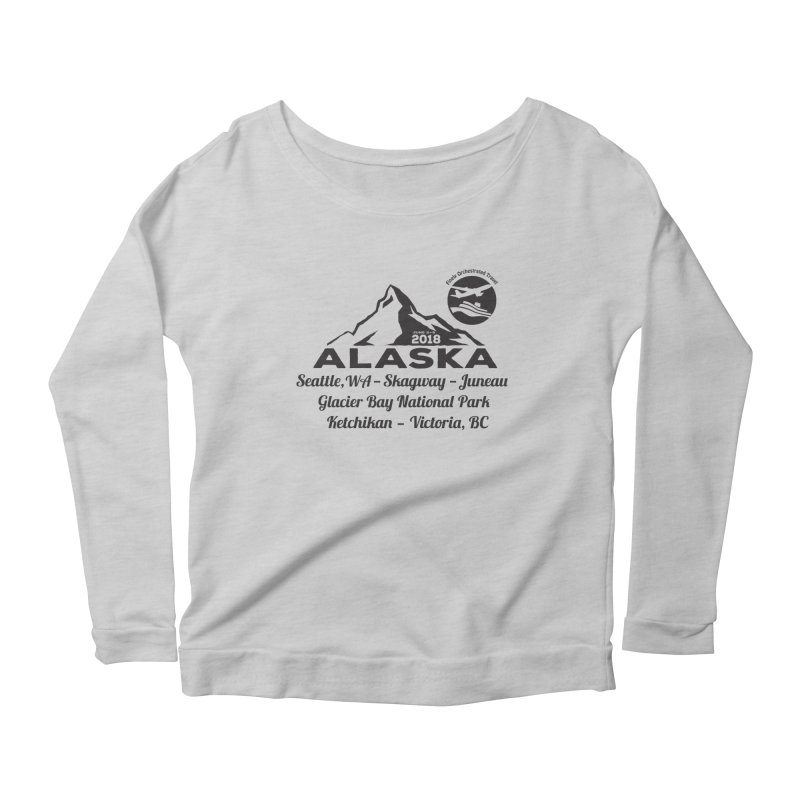 Finely Orchestrated Alaska Black Women's Scoop Neck Longsleeve T-Shirt by Don Vagabond's Artist Shop