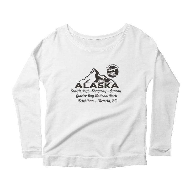 Finely Orchestrated Alaska Black Women's Scoop Neck Longsleeve T-Shirt by Don Vagabond's Artist Shop