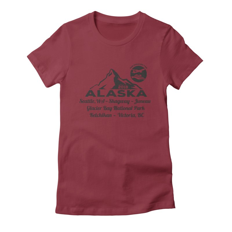 Finely Orchestrated Alaska Black Women's Fitted T-Shirt by donvagabond's Artist Shop