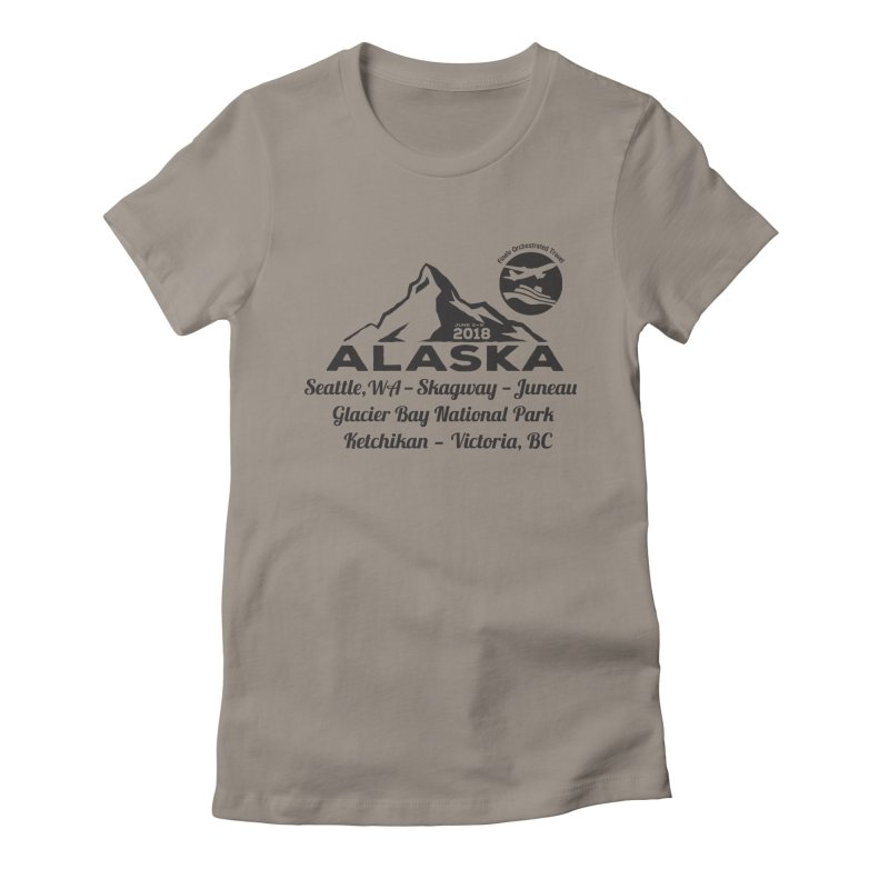 Finely Orchestrated Alaska Black Women's Fitted T-Shirt by Don Vagabond's Artist Shop