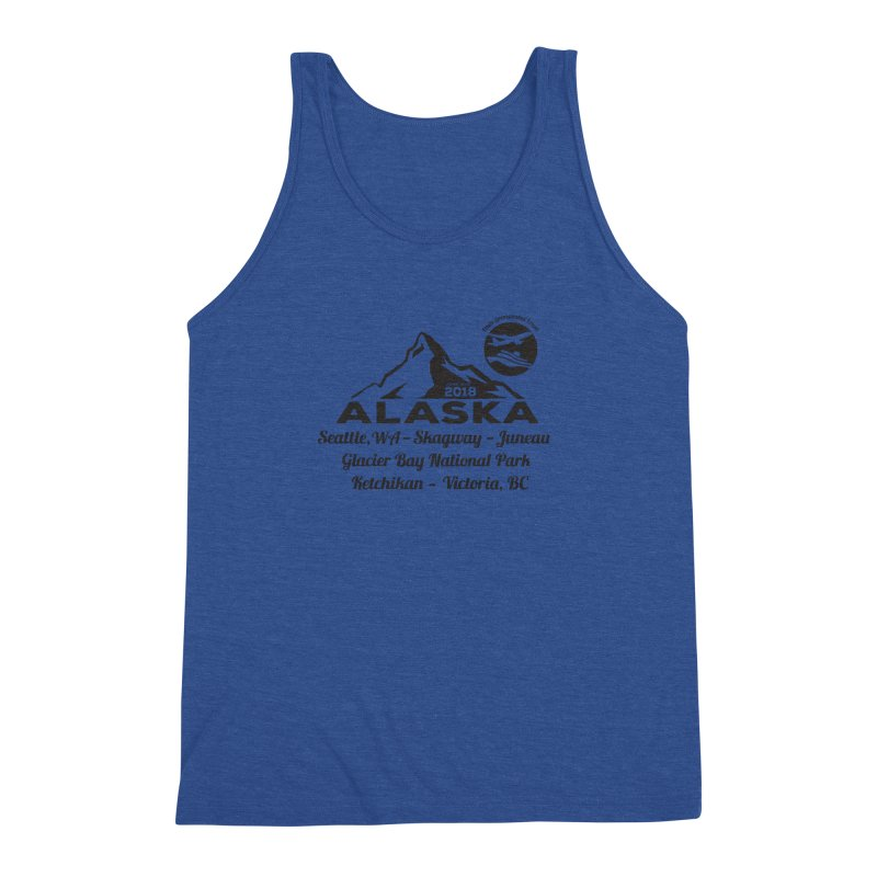 Finely Orchestrated Alaska Black Men's Triblend Tank by Don Vagabond's Artist Shop