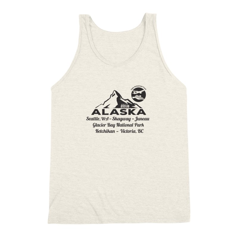 Finely Orchestrated Alaska Black Men's Triblend Tank by donvagabond's Artist Shop
