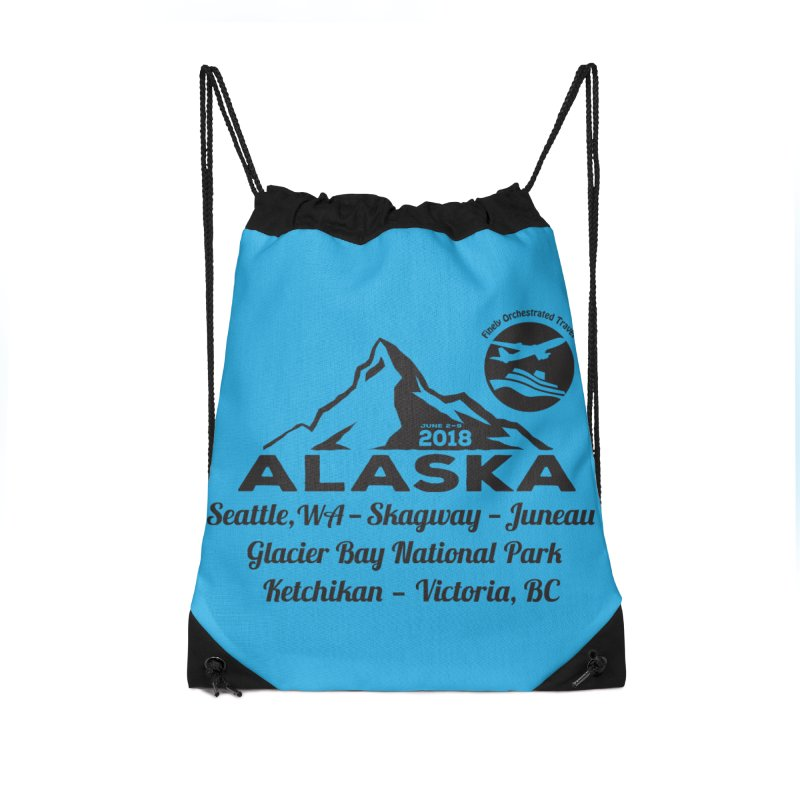 Finely Orchestrated Alaska Black Accessories Drawstring Bag Bag by Don Vagabond's Artist Shop