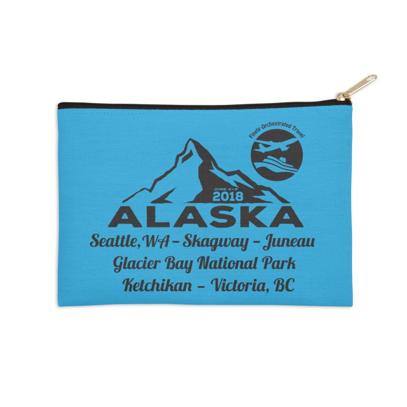 Finely Orchestrated Alaska Black Accessories Zip Pouch by donvagabond's Artist Shop