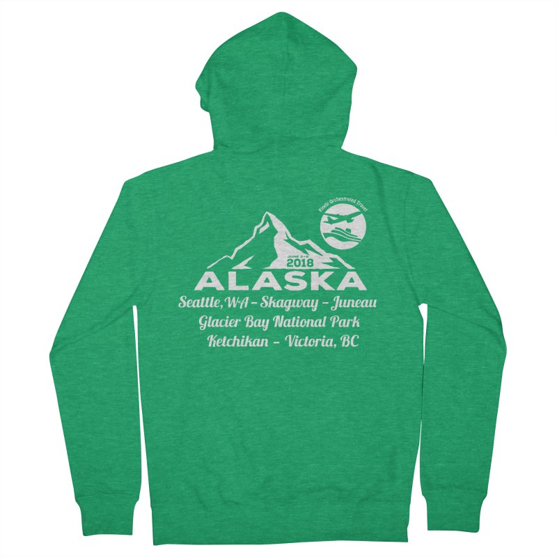 Finely Orchestrated Alaska Women's Zip-Up Hoody by donvagabond's Artist Shop