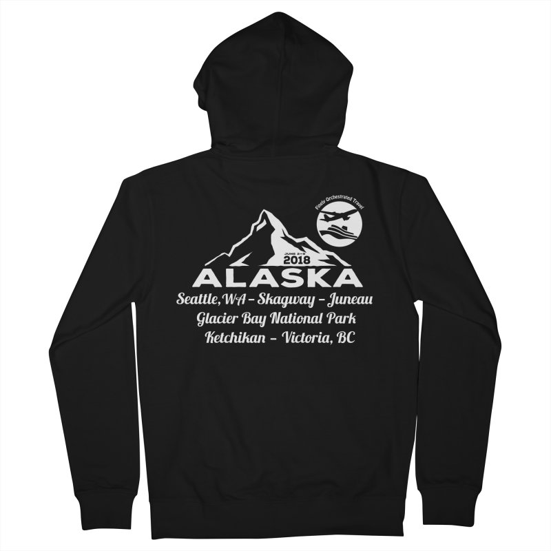 Finely Orchestrated Alaska Men's Zip-Up Hoody by donvagabond's Artist Shop