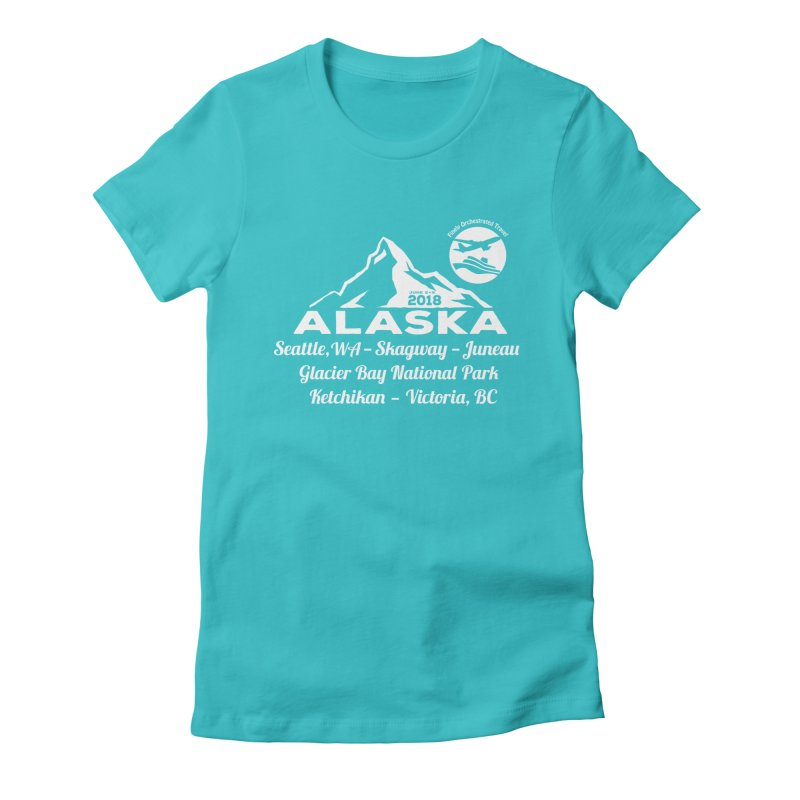 Finely Orchestrated Alaska Women's Fitted T-Shirt by donvagabond's Artist Shop