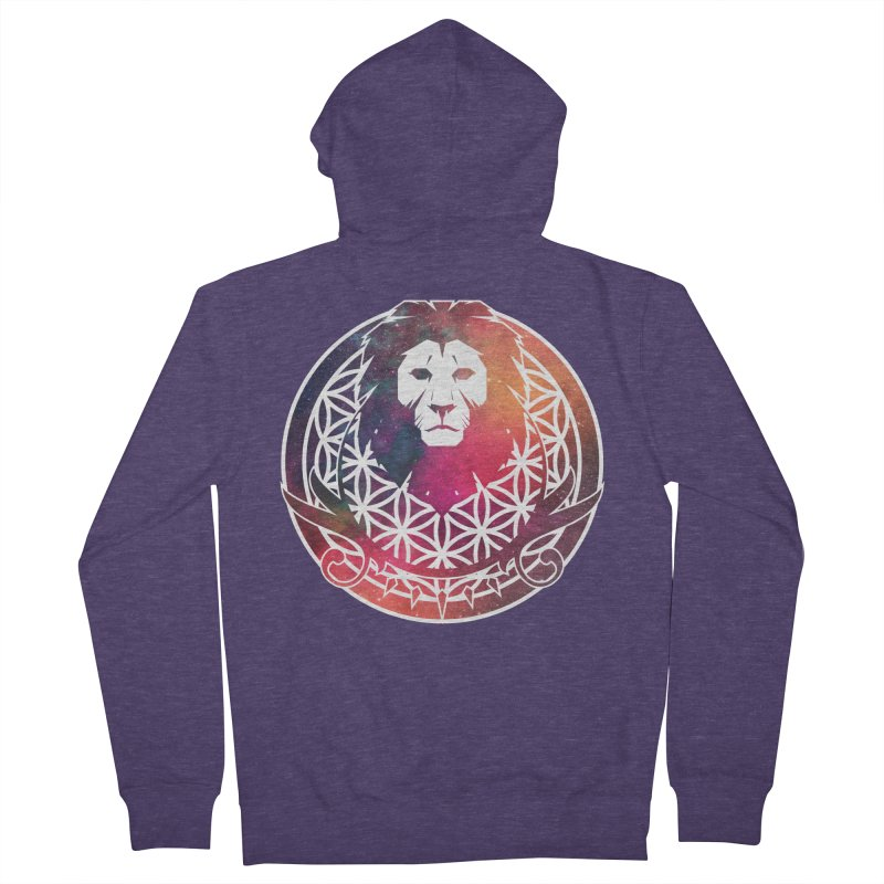 Cosmic Lion Men's Zip-Up Hoody by donvagabond's Artist Shop
