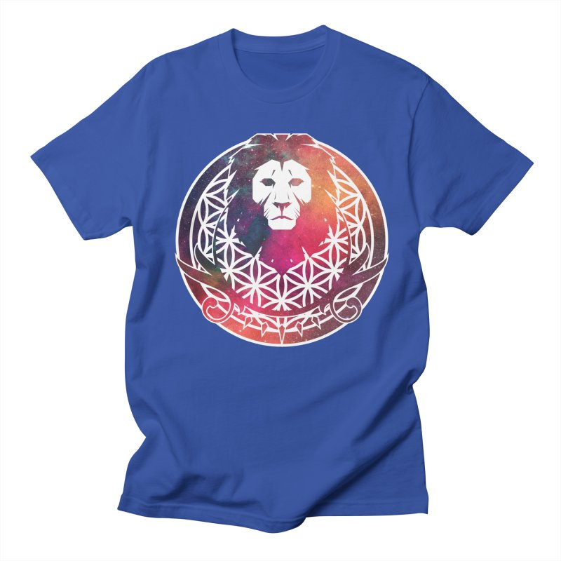 Cosmic Lion Men's T-Shirt by donvagabond's Artist Shop