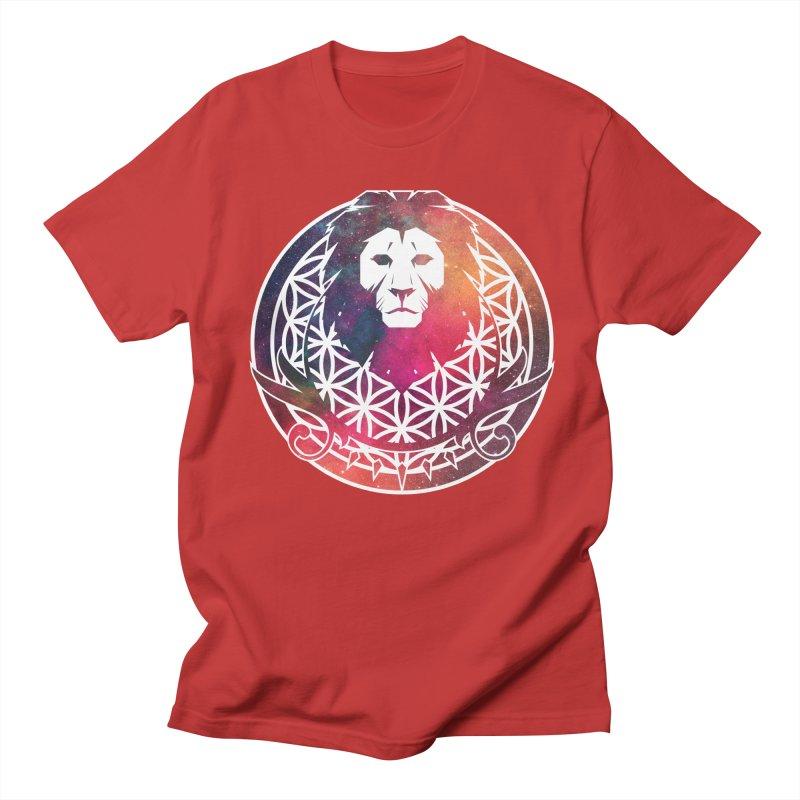 Cosmic Lion Men's T-Shirt by donvagabond's Artist Shop