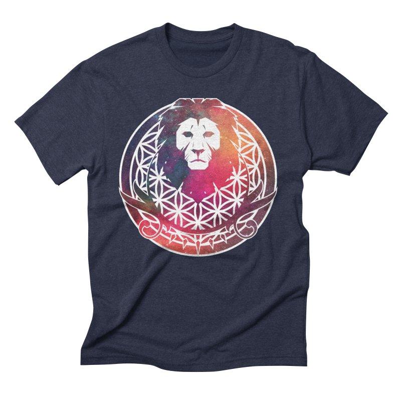 Cosmic Lion Men's Triblend T-Shirt by donvagabond's Artist Shop