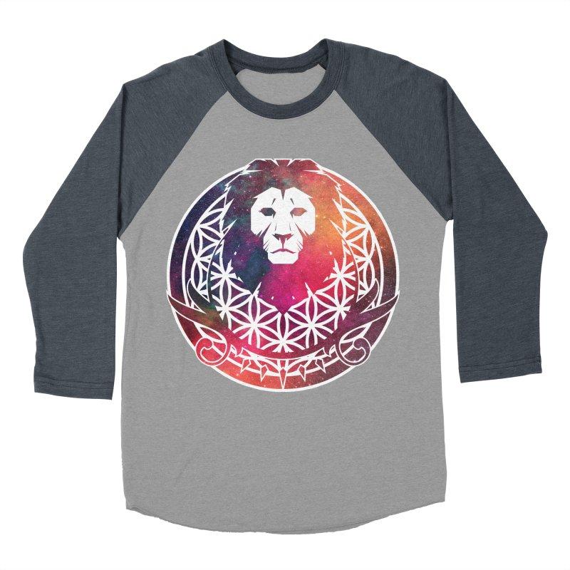 Cosmic Lion Men's Baseball Triblend T-Shirt by donvagabond's Artist Shop
