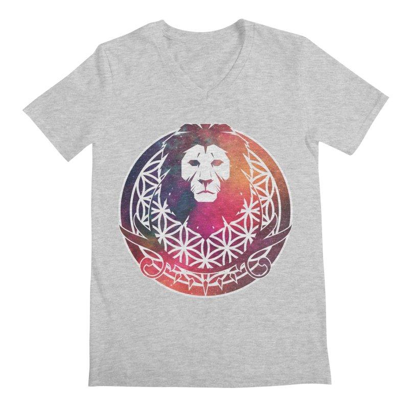 Cosmic Lion Men's V-Neck by donvagabond's Artist Shop