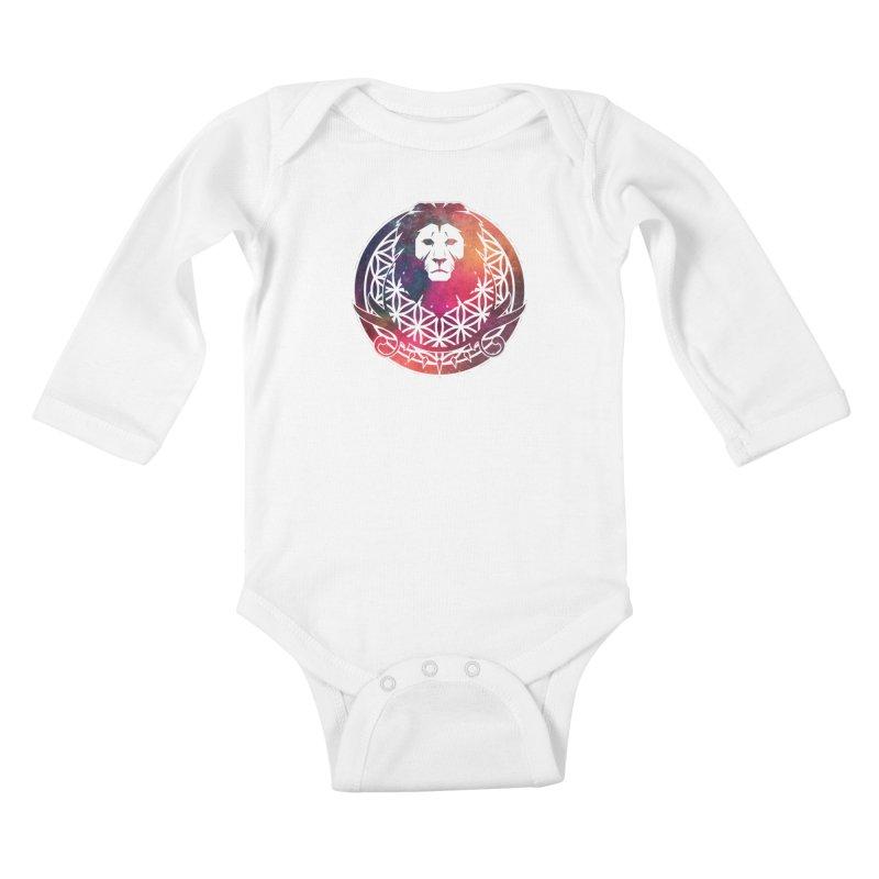 Cosmic Lion Kids Baby Longsleeve Bodysuit by donvagabond's Artist Shop