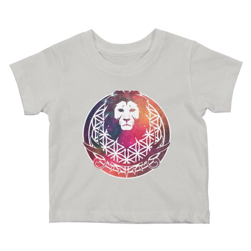 Cosmic Lion Kids Baby T-Shirt by donvagabond's Artist Shop