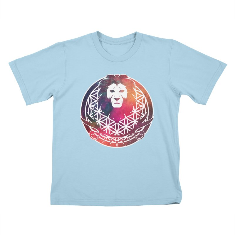 Cosmic Lion Kids T-shirt by donvagabond's Artist Shop