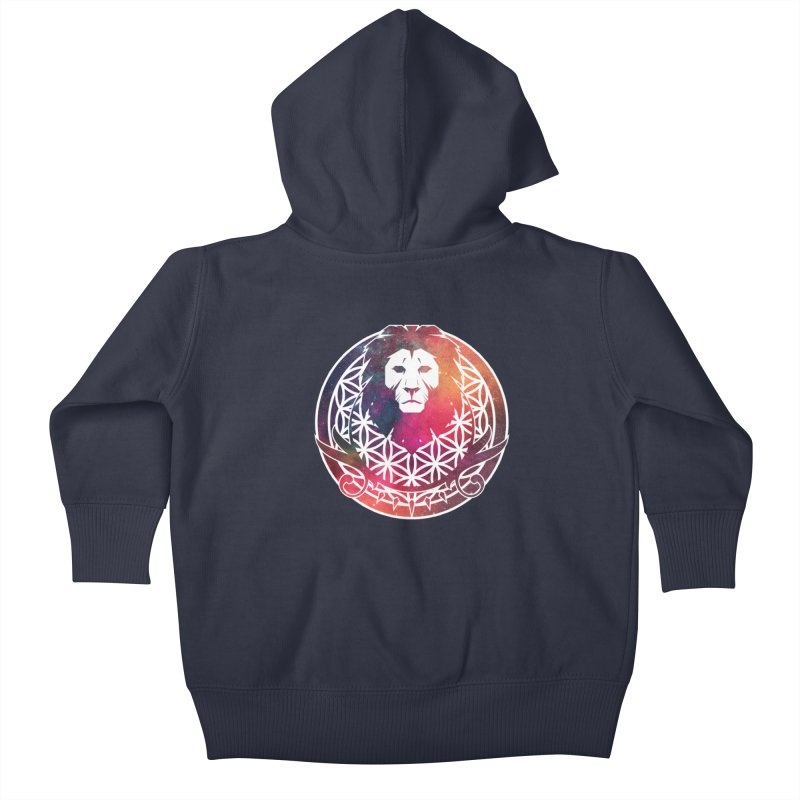 Cosmic Lion Kids Baby Zip-Up Hoody by donvagabond's Artist Shop