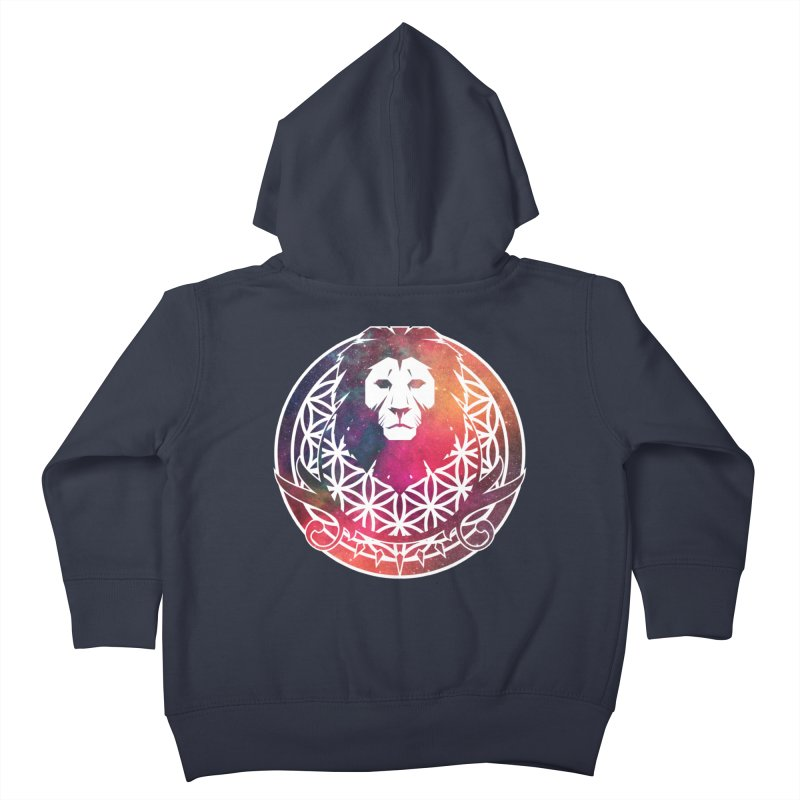 Cosmic Lion Kids Toddler Zip-Up Hoody by donvagabond's Artist Shop